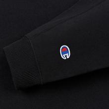 Женская толстовка Champion Reverse Weave Sleeve Logo Crew Neck Black фото- 2