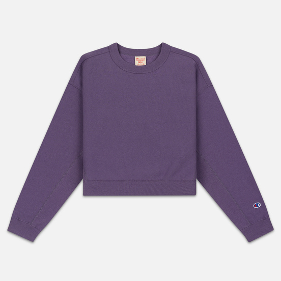Женская толстовка Champion Reverse Weave Sleeve Logo Crew Neck Mulled Grape