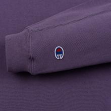 Женская толстовка Champion Reverse Weave Sleeve Logo Crew Neck Mulled Grape фото- 2