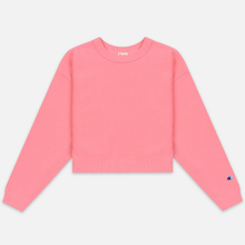 Женская толстовка Champion Reverse Weave Sleeve Logo Crew Neck Pink фото- 0