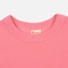 Женская толстовка Champion Reverse Weave Sleeve Logo Crew Neck Pink фото- 1