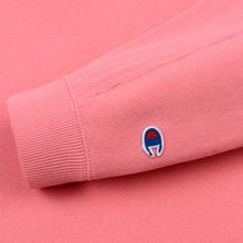 Женская толстовка Champion Reverse Weave Sleeve Logo Crew Neck Pink фото- 2