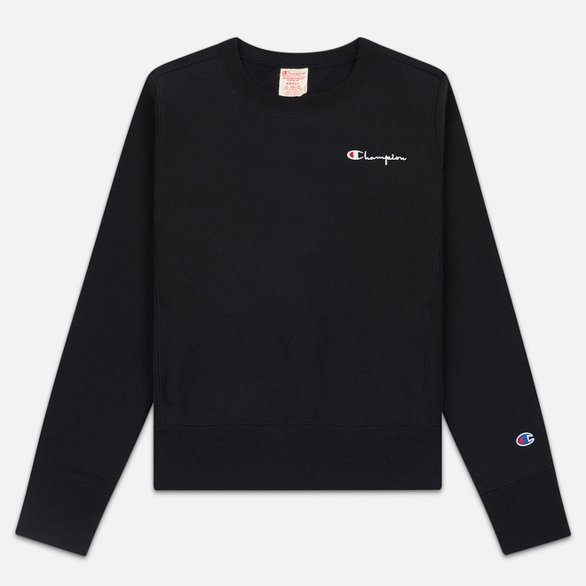 Женская толстовка Champion Reverse Weave Small Script Crew Neck Black