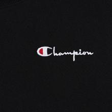 Женская толстовка Champion Reverse Weave Small Script Crew Neck Black фото- 3