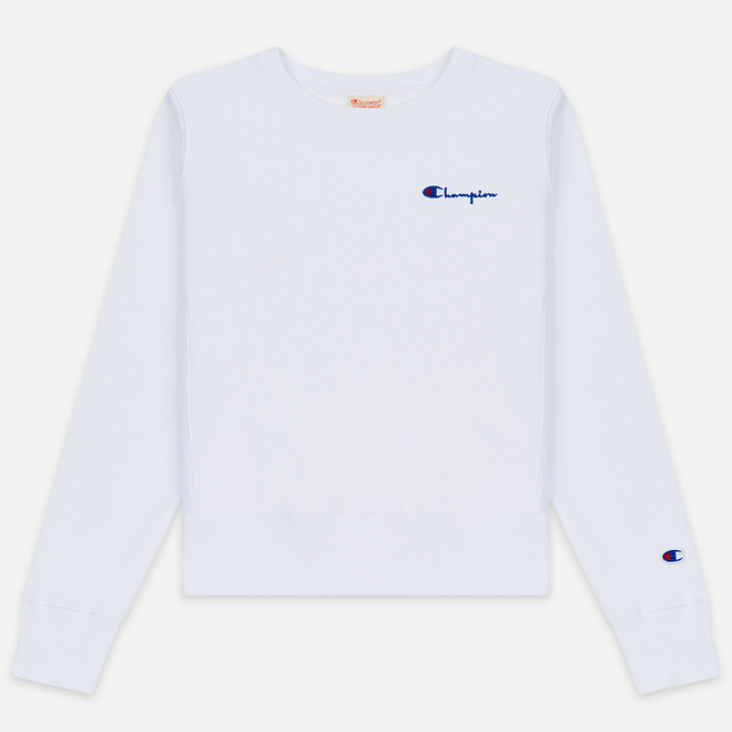 Женская толстовка Champion Reverse Weave Small Script Crew Neck White