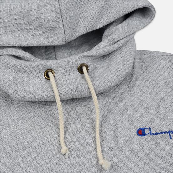 Женская толстовка Champion Reverse Weave Small Script Hooded Light Grey