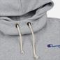 Женская толстовка Champion Reverse Weave Small Script Hooded Light Grey фото - 1