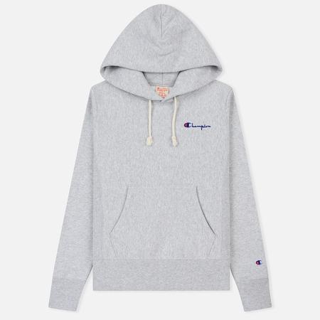 Женская толстовка Champion Reverse Weave Small Script Logo Hoodie Light Grey