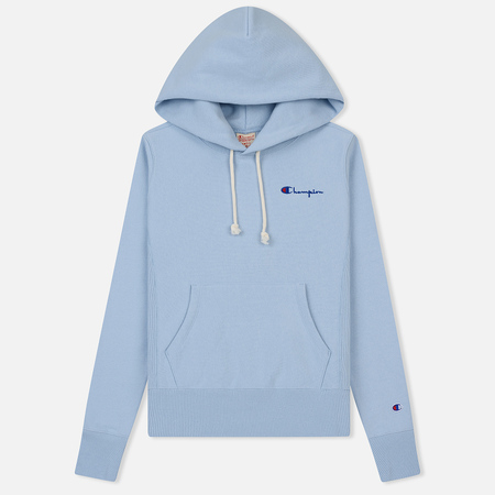 Женская толстовка Champion Reverse Weave Small Script Logo Hoodie Pastel Blue
