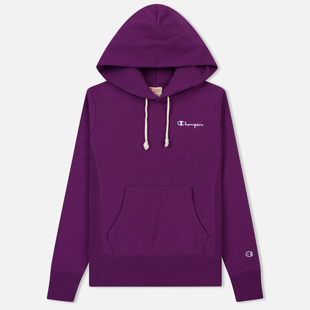 Женская толстовка Champion Reverse Weave Small Script Logo Hoodie Purple