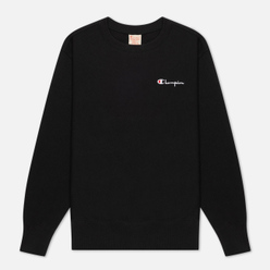 Женская толстовка Champion Reverse Weave Small Script & Logo Sleeve Crew Neck Black