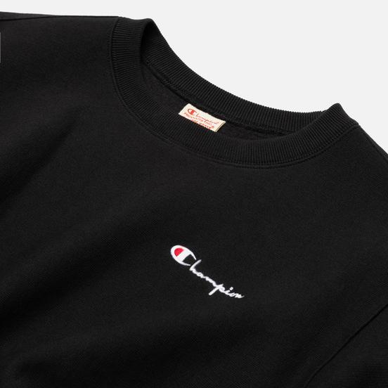 Женская толстовка Champion Reverse Weave Small Script & Logo Sleeve Crew Neck Black