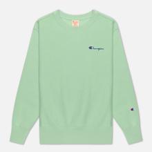 Женская толстовка Champion Reverse Weave Small Script & Logo Sleeve Crew Neck Green фото- 0