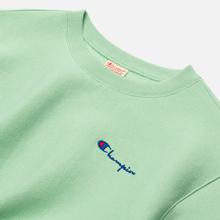 Женская толстовка Champion Reverse Weave Small Script & Logo Sleeve Crew Neck Green фото- 1