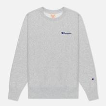 Женская толстовка Champion Reverse Weave Small Script & Logo Sleeve Crew Neck Light Grey фото- 0