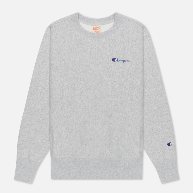 Женская толстовка Champion Reverse Weave Small Script & Logo Sleeve Crew Neck Light Grey