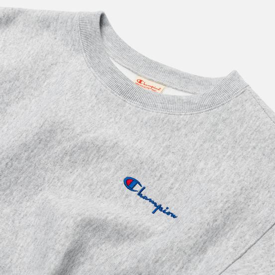 Женская толстовка Champion Reverse Weave Small Script & Logo Sleeve Crew Neck Light Grey