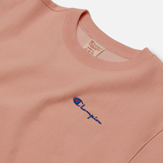 Женская толстовка Champion Reverse Weave Small Script & Logo Sleeve Crew Neck Peach