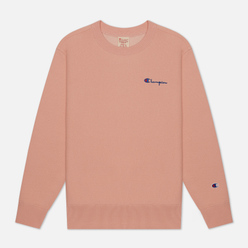 Женская толстовка Champion Reverse Weave Small Script & Logo Sleeve Crew Neck Peach