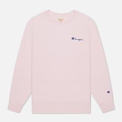 Женская толстовка Champion Reverse Weave Small Script & Logo Sleeve Crew Neck Pink