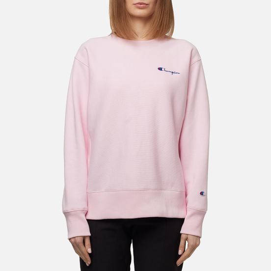 Женская толстовка Champion Reverse Weave Small Script & Logo Sleeve Crew Neck Baby Pink