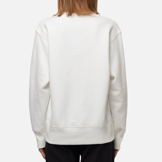 Женская толстовка Champion Reverse Weave Small Script & Logo Sleeve Crew Neck White