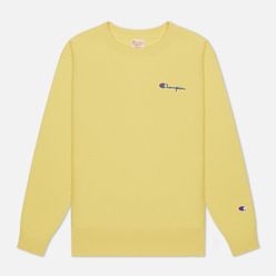 Женская толстовка Champion Reverse Weave Small Script & Logo Sleeve Crew Neck Yellow