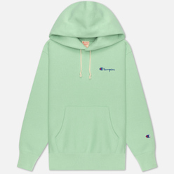 Женская толстовка Champion Reverse Weave Small Script & Logo Sleeve Hoodie Green