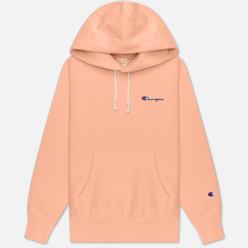 Женская толстовка Champion Reverse Weave Small Script & Logo Sleeve Hoodie Pink
