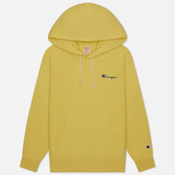 Женская толстовка Champion Reverse Weave Small Script & Logo Sleeve Hoodie Yellow