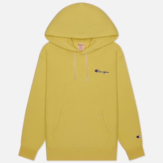 Женская толстовка Champion Reverse Weave Small Script & Logo Sleeve Hoodie Yellow