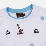 Женская толстовка Evisu Mini Graphic Embroidery White фото- 1