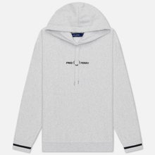 Женская толстовка Fred Perry Embroidered Hoodie Iced Grey Marl фото- 0