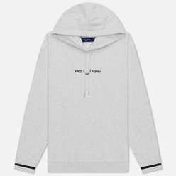 Женская толстовка Fred Perry Embroidered Hoodie Iced Grey Marl