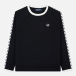 Женская толстовка Fred Perry Laurel Taped Crew Neck Black фото- 0