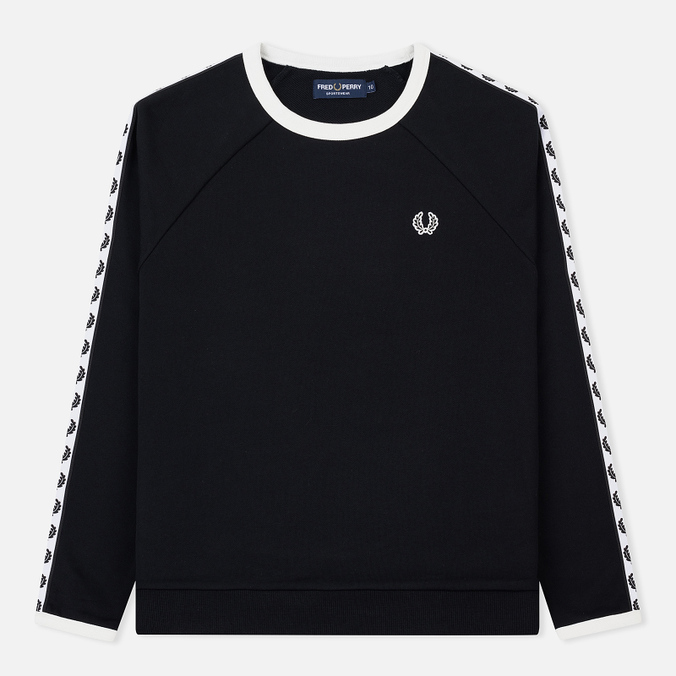 Женская толстовка Fred Perry Laurel Taped Crew Neck Black
