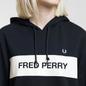 Женская толстовка Fred Perry Printed Brand Hoodie Black фото - 3