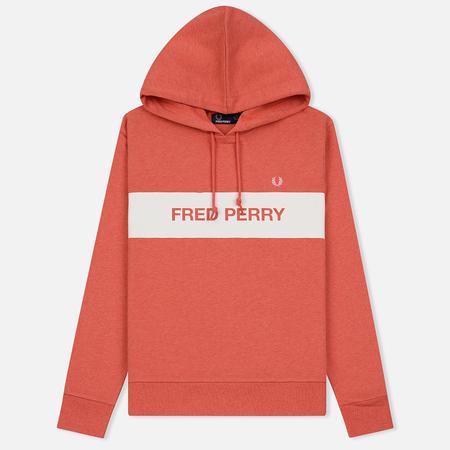 Женская толстовка Fred Perry Printed Brand Hoodie Blush Marl