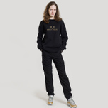 Женская толстовка Fred Perry Sports Authentic Crew Neck Embroidered Black фото- 1