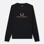 Женская толстовка Fred Perry Sports Authentic Crew Neck Embroidered Black фото- 0