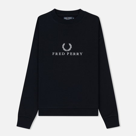 Женская толстовка Fred Perry Sports Authentic Crew Neck Embroidered Navy