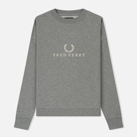 Женская толстовка Fred Perry Sports Authentic Crew Neck Embroidered Steel Marl