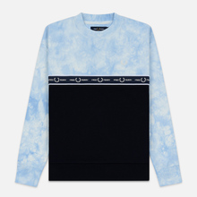 Женская толстовка Fred Perry Taped Tie-Dye Blue фото- 0