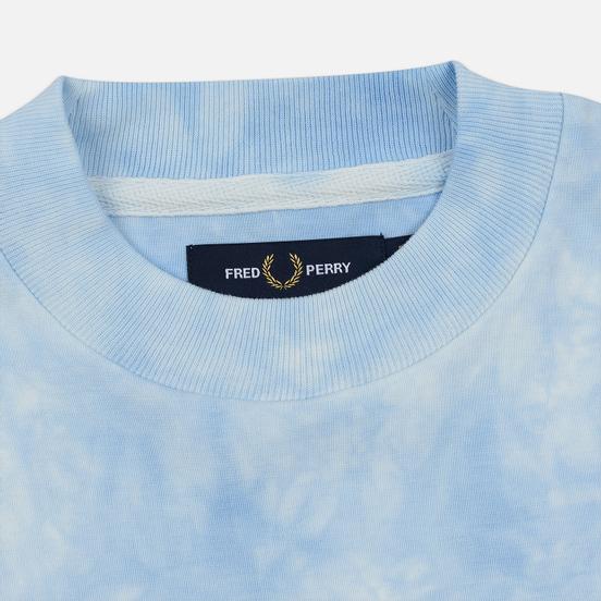 Женская толстовка Fred Perry Taped Tie-Dye Blue