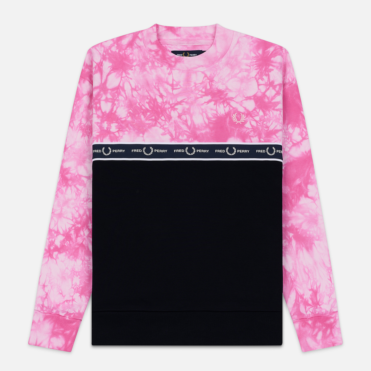 Женская толстовка Fred Perry Taped Tie-Dye Pink