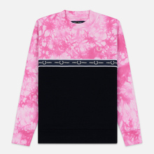 Женская толстовка Fred Perry Taped Tie-Dye Pink фото- 0