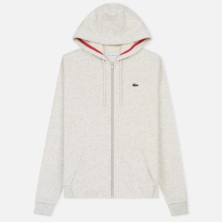 Женская толстовка Lacoste Sport Tennis Full Zip Hoodie Alpes Grey Chine/Goji Red