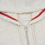 Женская толстовка Lacoste Sport Tennis Full Zip Hoodie Alpes Grey Chine/Goji Red фото- 1