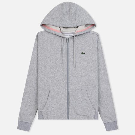 Женская толстовка Lacoste Sport Tennis Full Zip Hoodie Grey Chine/Pink