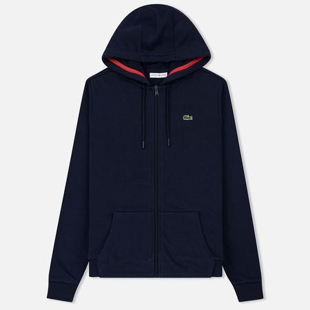 Женская толстовка Lacoste Sport Tennis Full Zip Hoodie Navy Blue/Goji Red